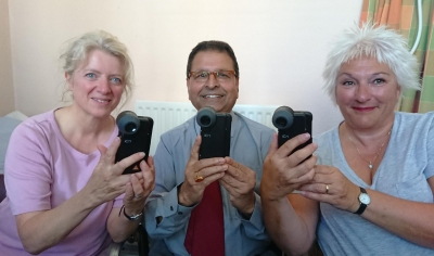 Staff At Argyll House Surgery With New Equipment